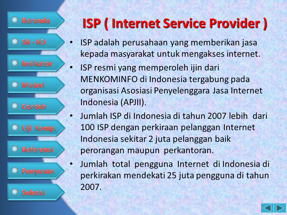 ISP ( Internet Service Provider )