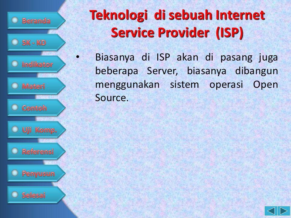 Teknologi di sebuah Internet Service Provider (ISP)