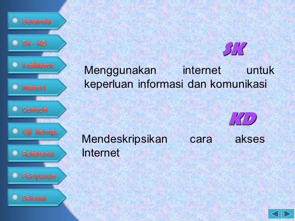 SK KD Menggunakan internet untuk keperluan informasi dan komunikasi