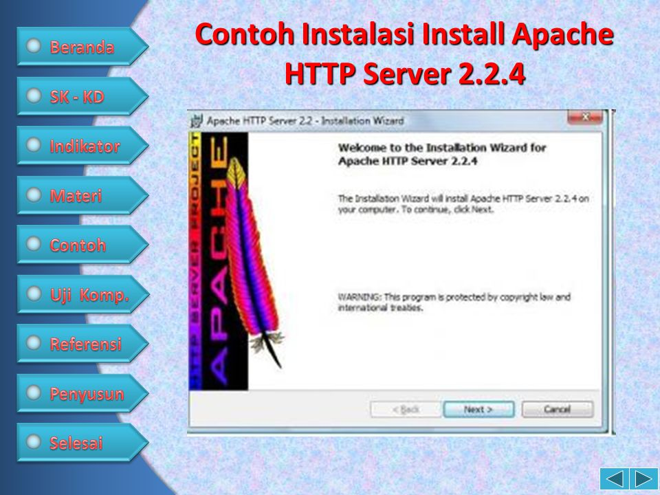 Contoh Instalasi Install Apache HTTP Server 2.2.4