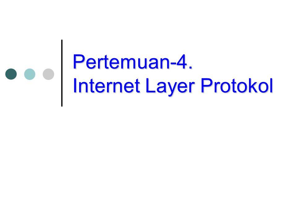Pertemuan-4. Internet Layer Protokol