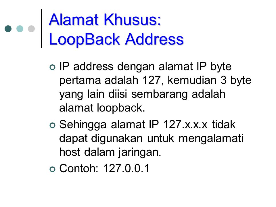 Alamat Khusus: LoopBack Address