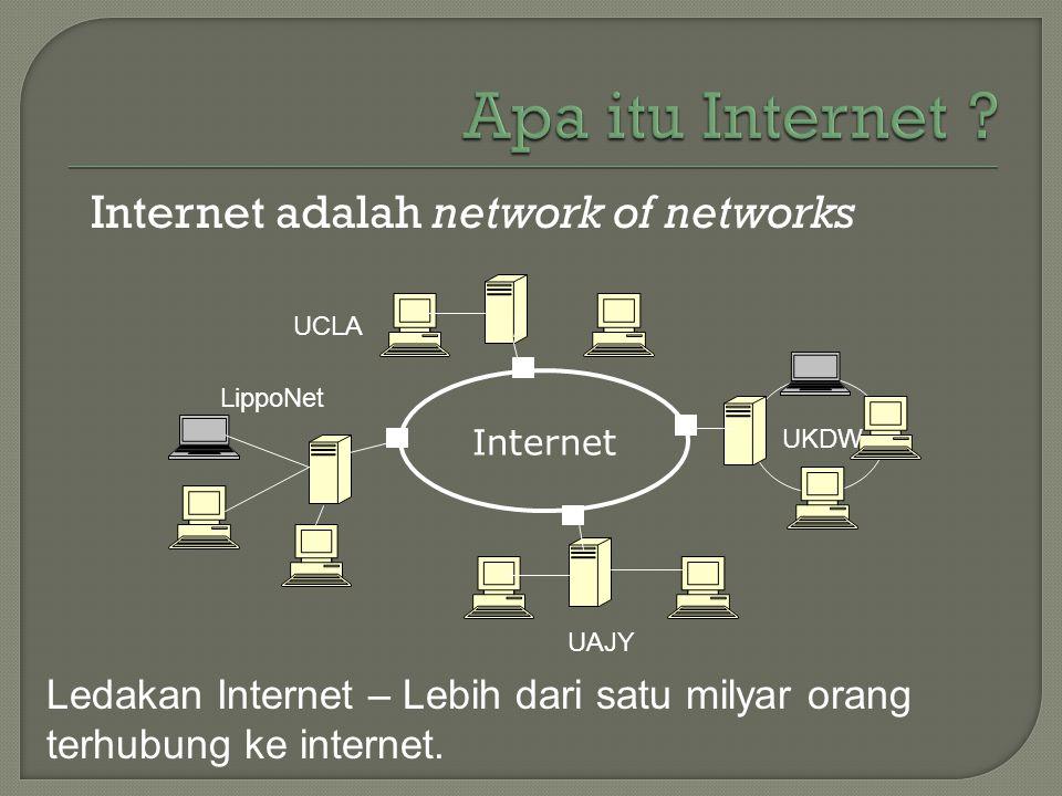Apa itu Internet Internet adalah network of networks