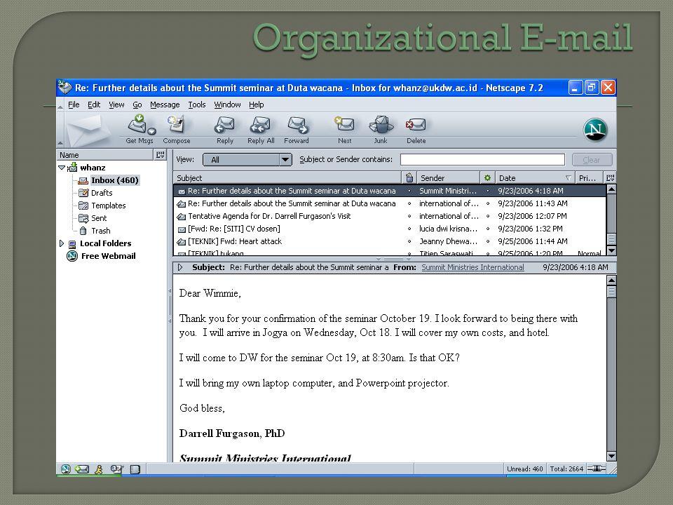 Organizational E-mail