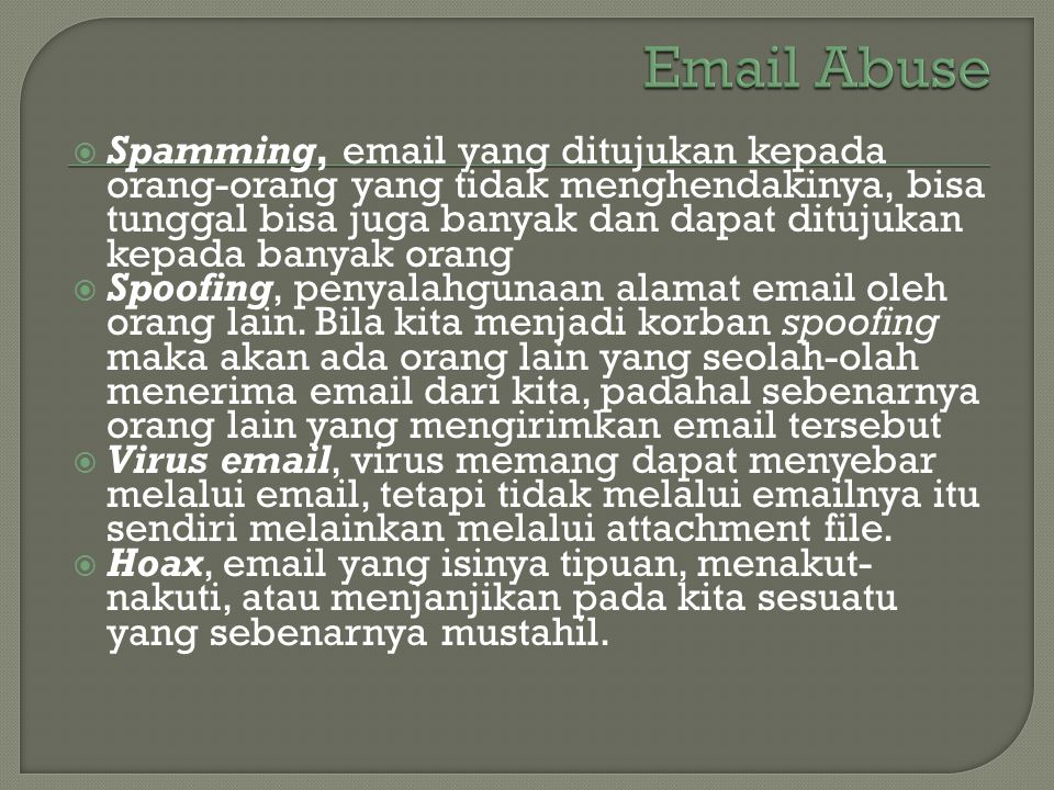 Email Abuse