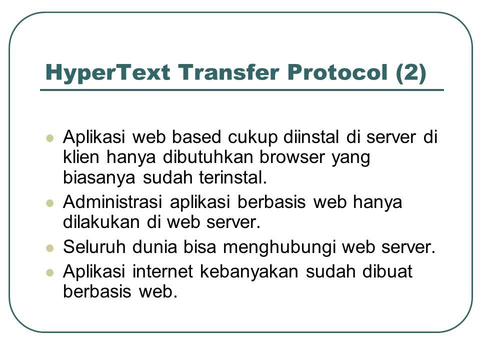 HyperText Transfer Protocol (2)
