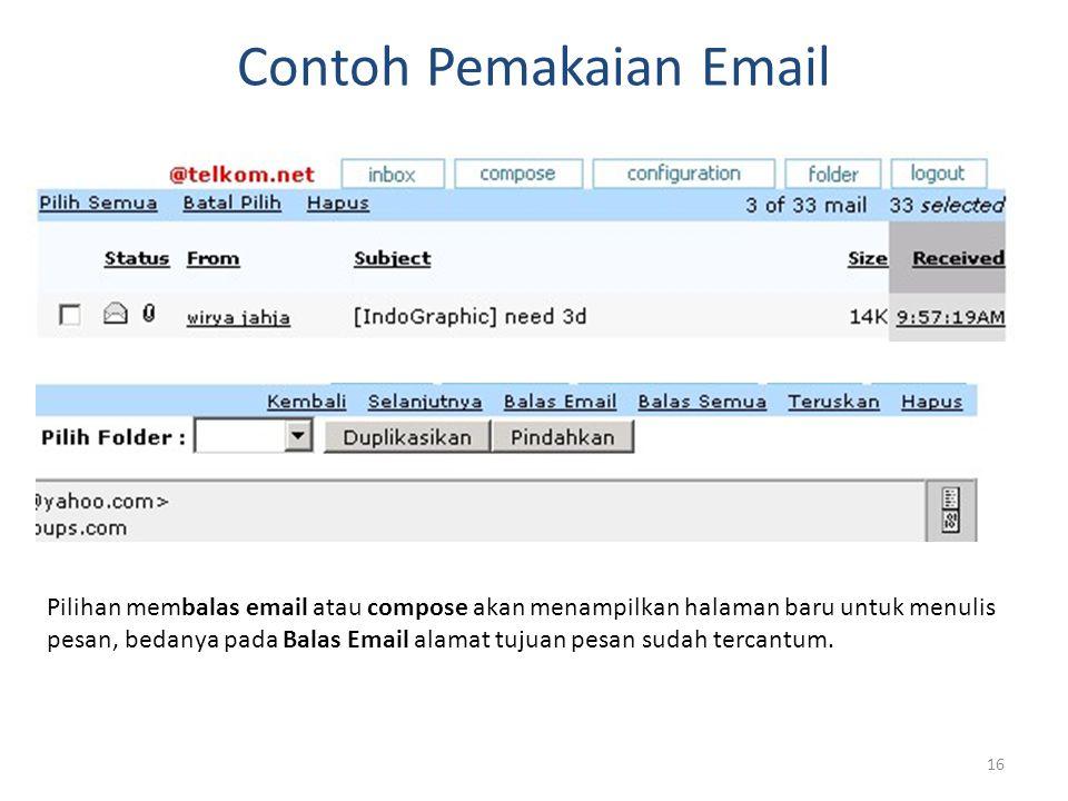 Contoh Pemakaian Email
