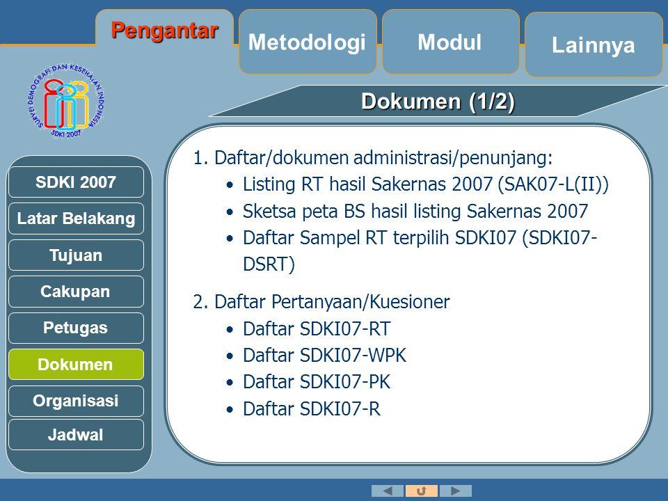 Pengantar Metodologi Modul Lainnya Dokumen (1/2)