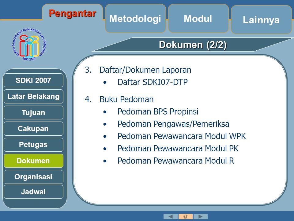 Pengantar Metodologi Modul Lainnya Dokumen (2/2)