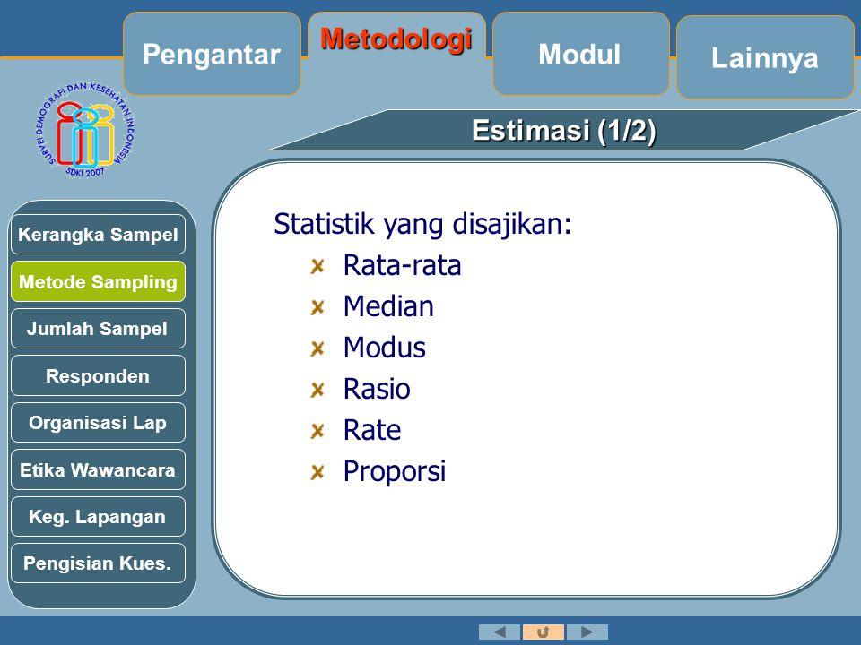 Pengantar Metodologi Modul Lainnya Estimasi (1/2)