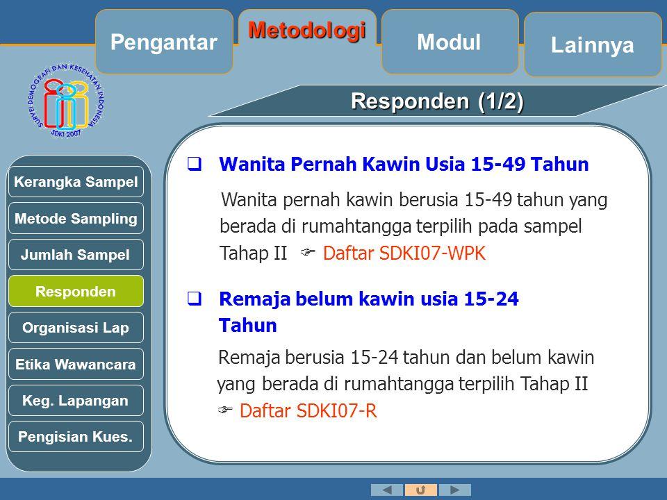 Pengantar Metodologi Modul Lainnya Responden (1/2)