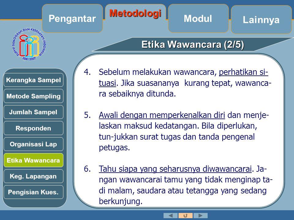 Pengantar Metodologi Modul Lainnya Etika Wawancara (2/5)