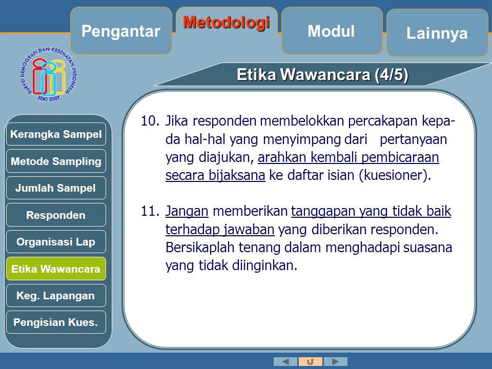 Pengantar Metodologi Modul Lainnya Etika Wawancara (4/5)