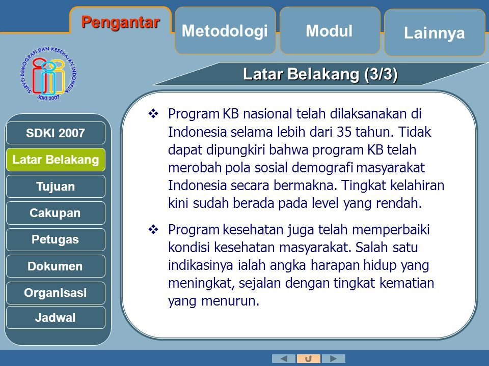 Pengantar Metodologi Modul Lainnya Latar Belakang (3/3)