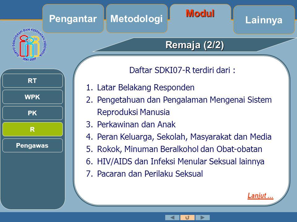 Daftar SDKI07-R terdiri dari :