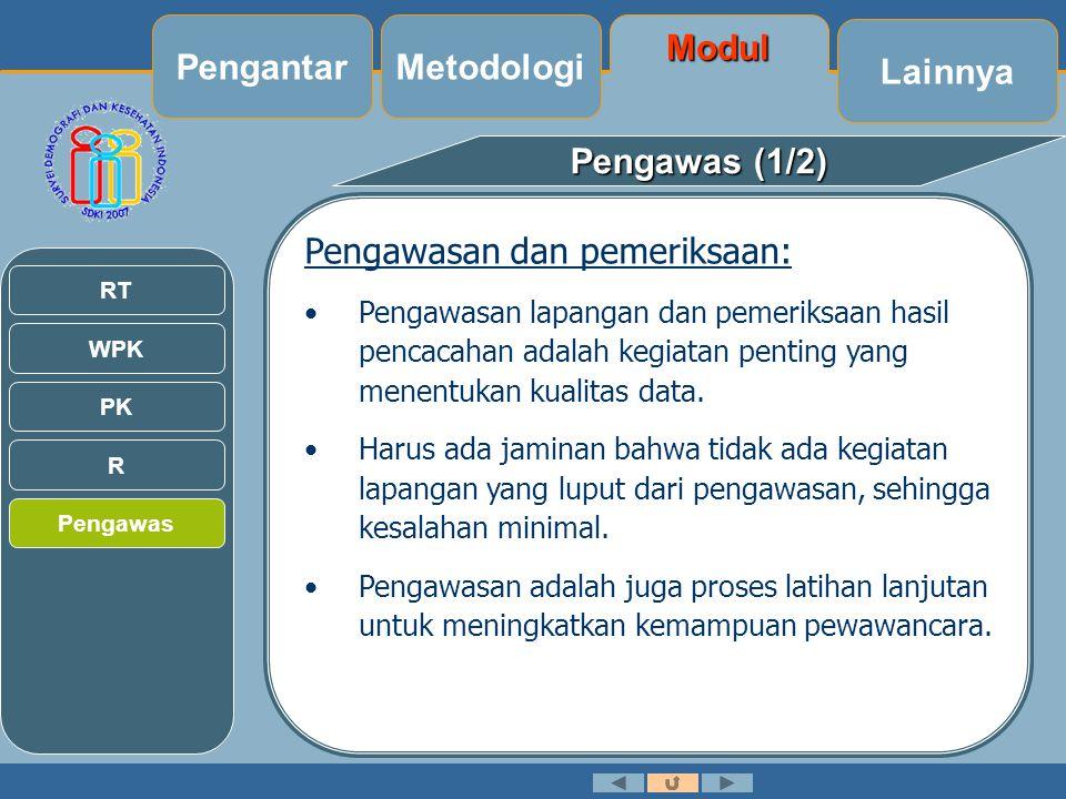 Pengantar Metodologi Modul Lainnya Pengawas (1/2)