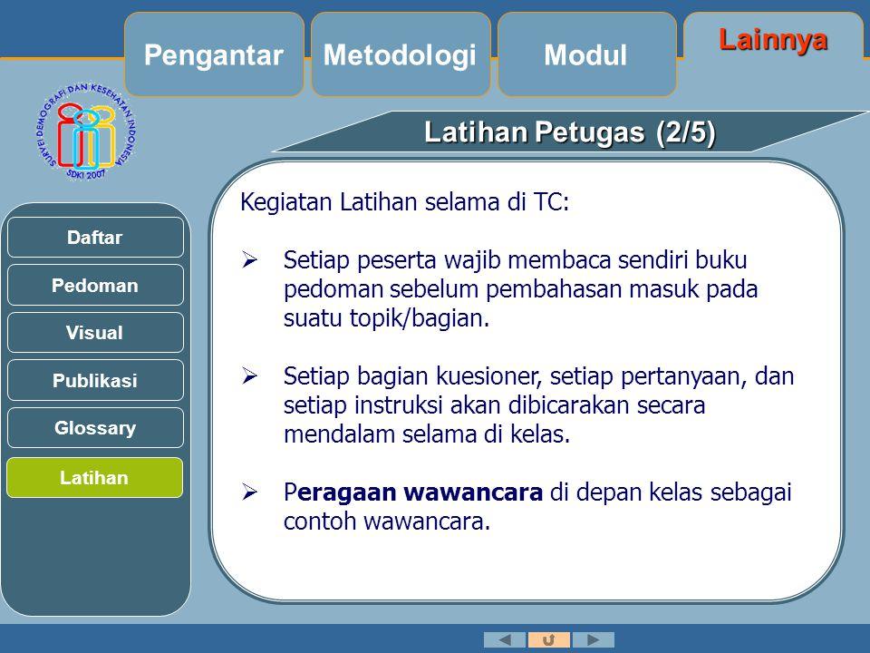 Pengantar Metodologi Modul Lainnya Latihan Petugas (2/5)