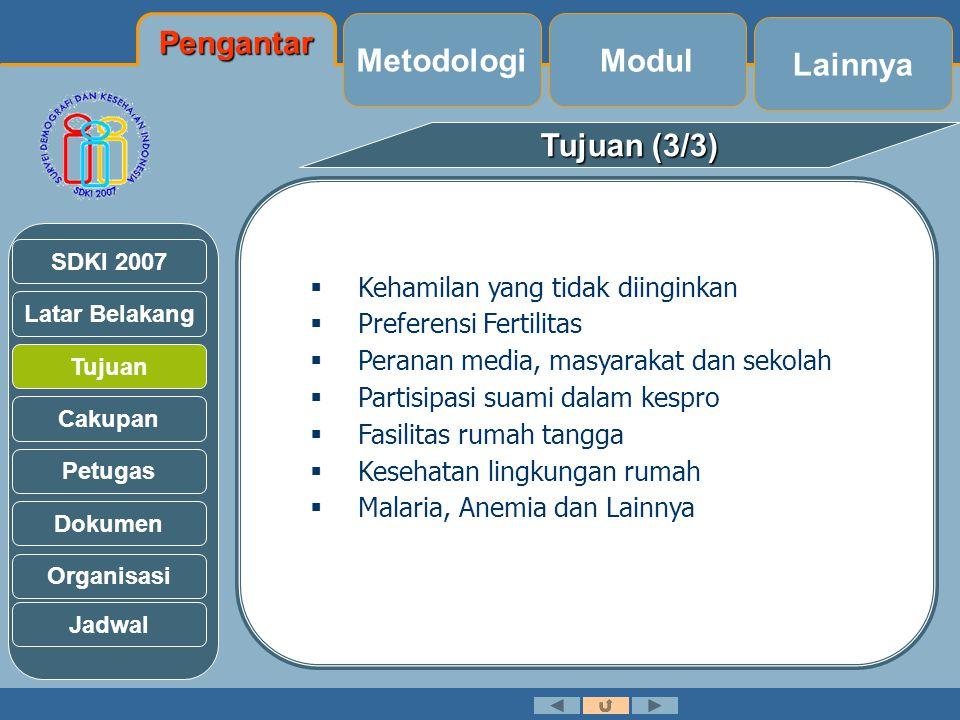 Pengantar Metodologi Modul Lainnya Tujuan (3/3)