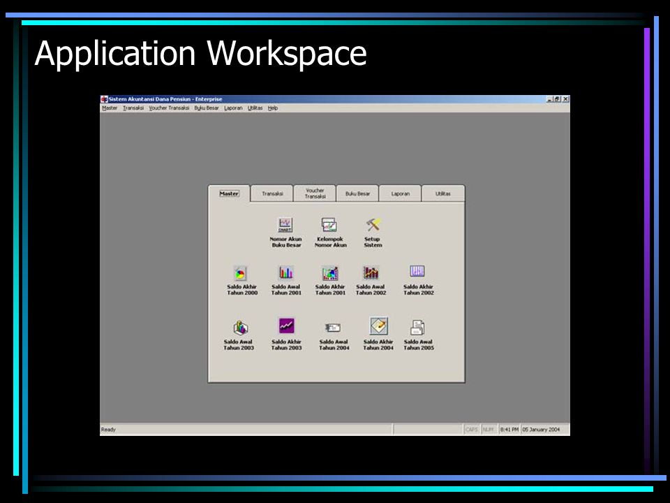 Application Workspace