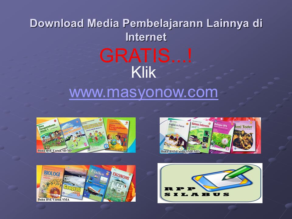 Download Media Pembelajarann Lainnya di Internet