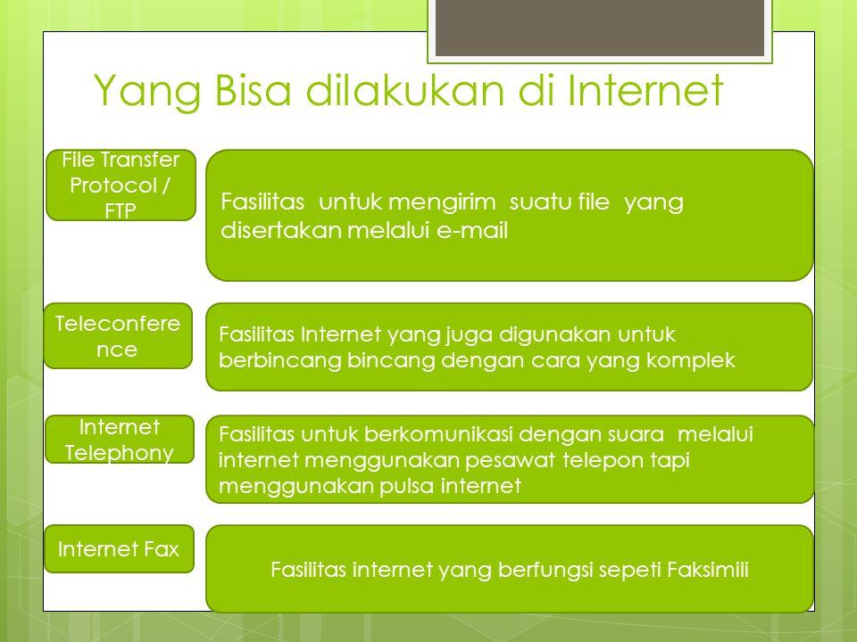 Yang Bisa dilakukan di Internet
