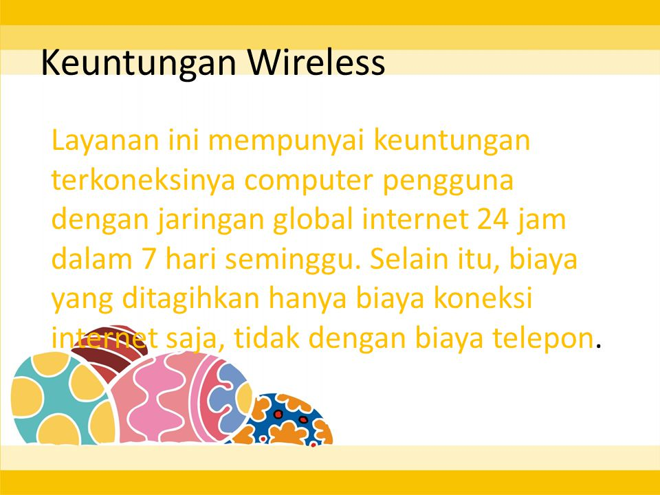 Keuntungan Wireless