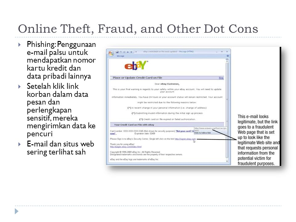 Online Theft, Fraud, and Other Dot Cons