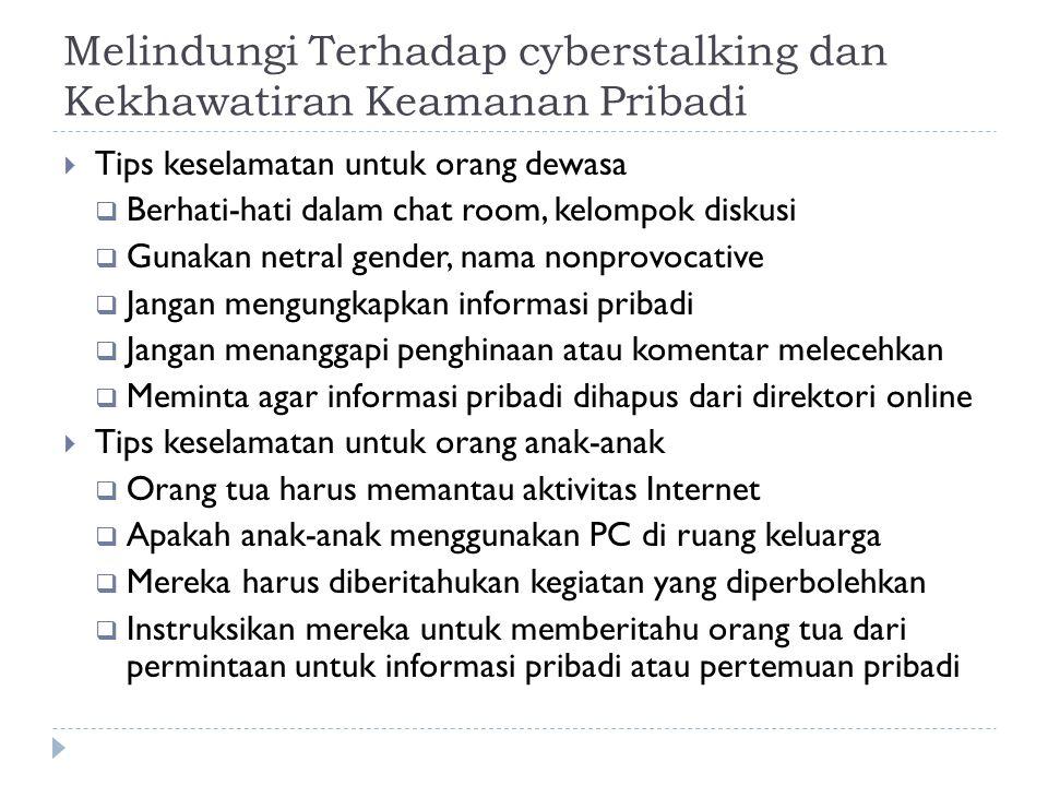 Melindungi Terhadap cyberstalking dan Kekhawatiran Keamanan Pribadi