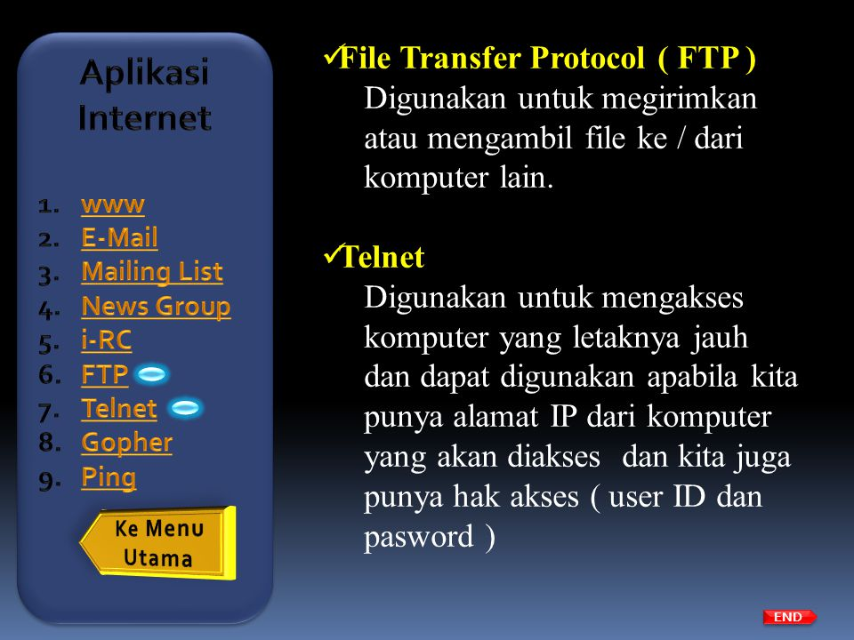Aplikasi Internet File Transfer Protocol ( FTP )