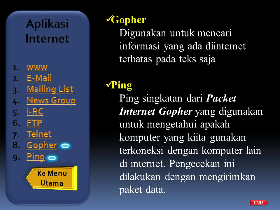 Aplikasi Internet Gopher