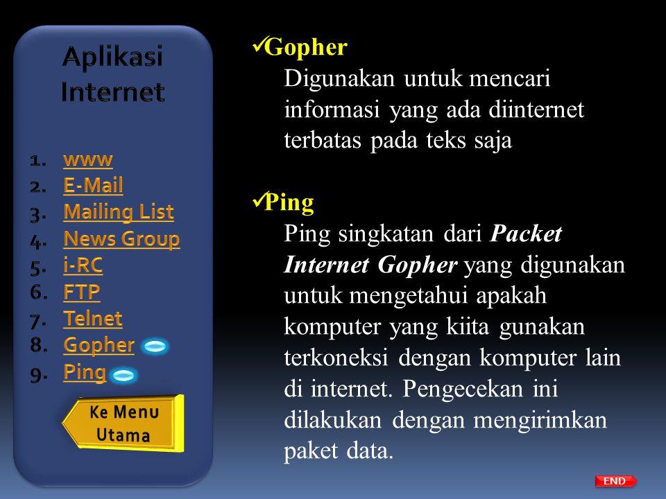 Aplikasi Internet Gopher