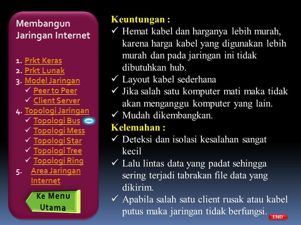 Membangun Jaringan Internet Keuntungan :