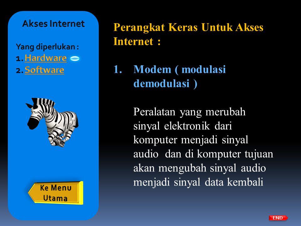 Perangkat Keras Untuk Akses Internet :