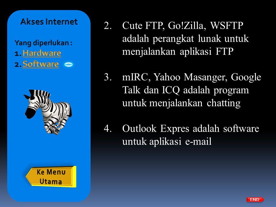 Outlook Expres adalah software untuk aplikasi e-mail