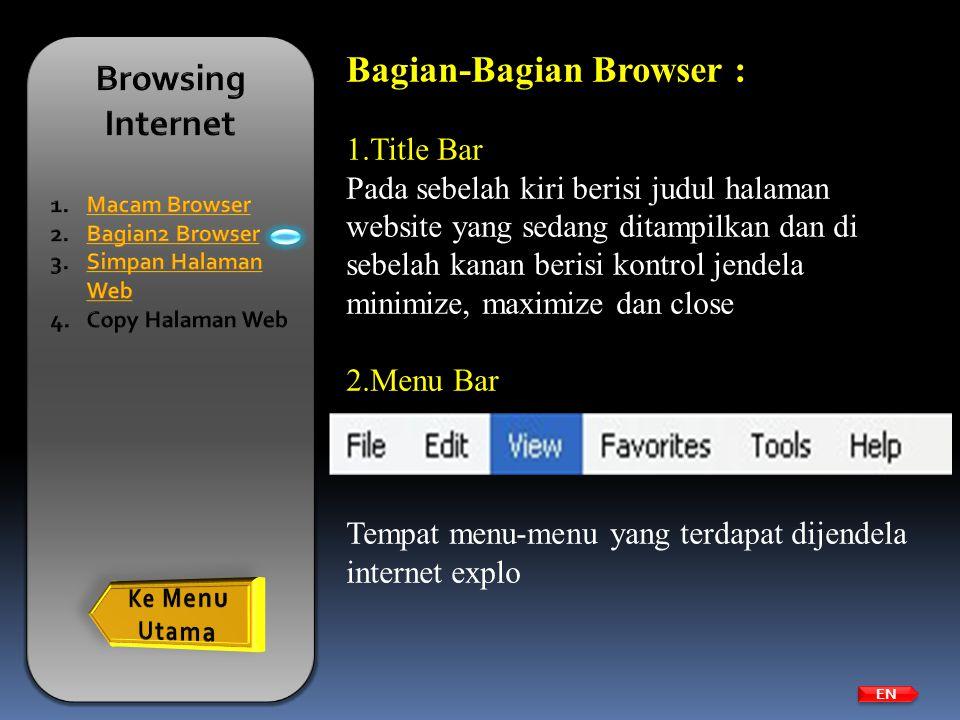 Bagian-Bagian Browser :