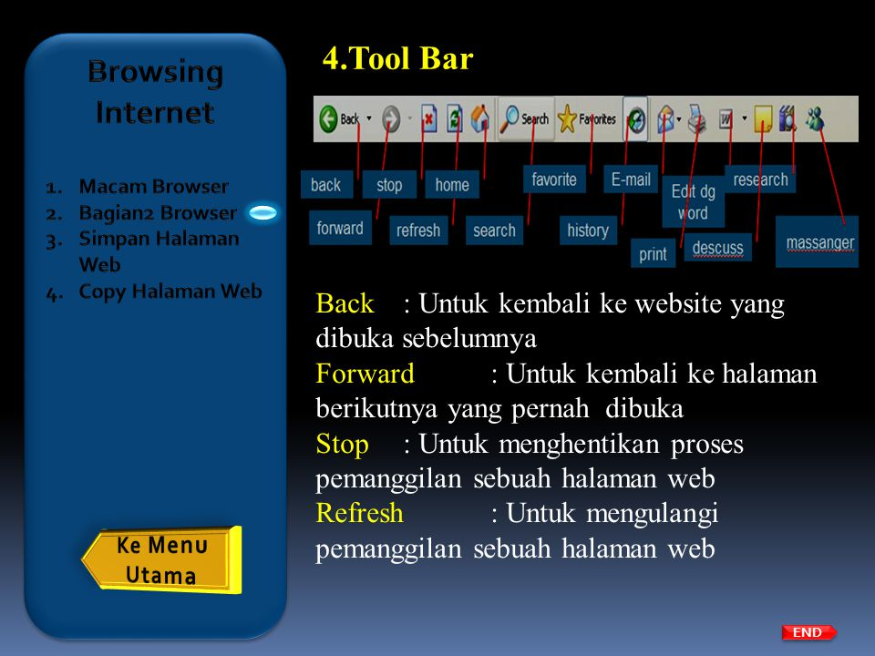 Tool Bar Browsing Internet