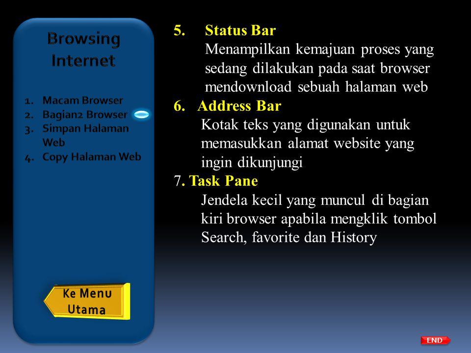 Browsing Internet Status Bar