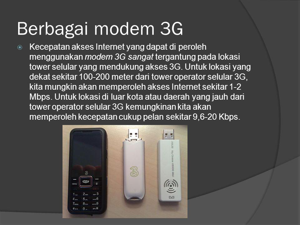 Berbagai modem 3G