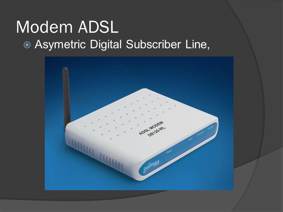 Modem ADSL Asymetric Digital Subscriber Line,