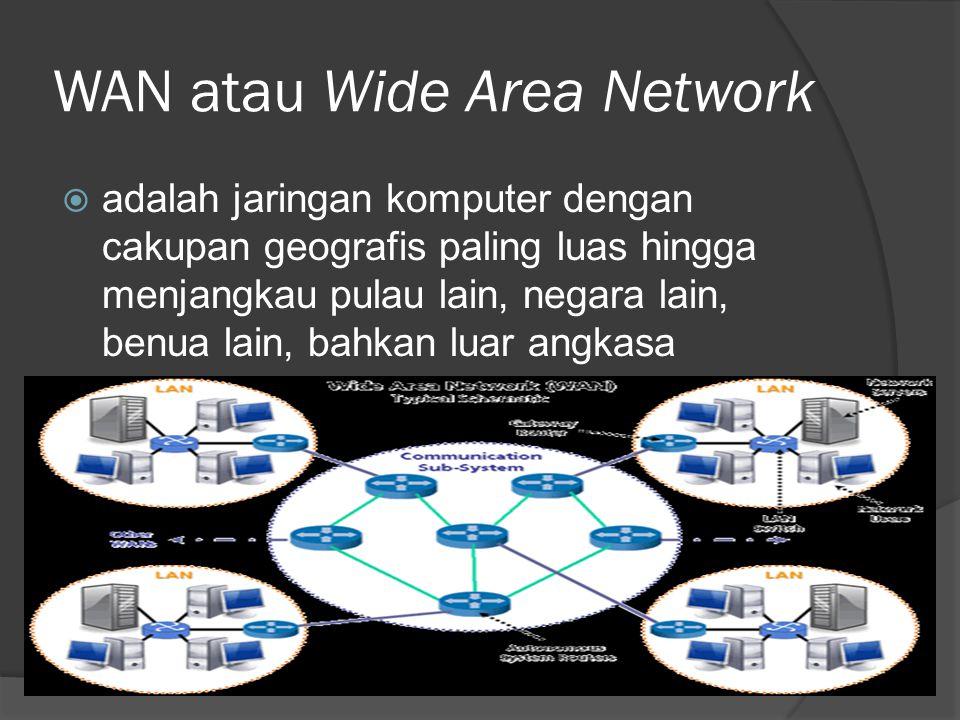 WAN atau Wide Area Network