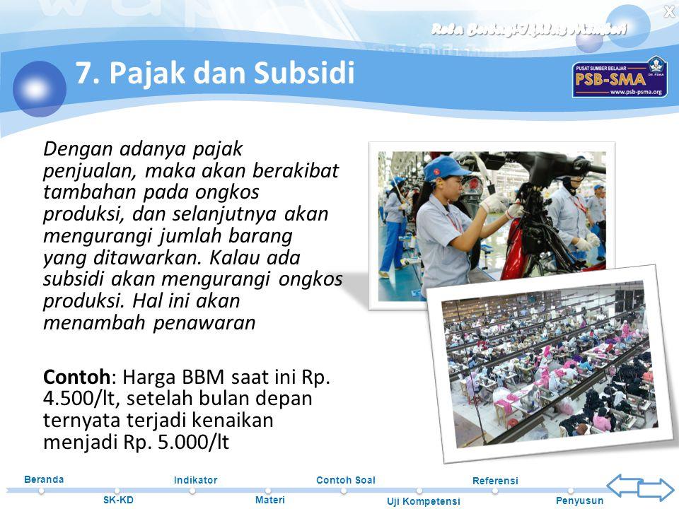 7. Pajak dan Subsidi