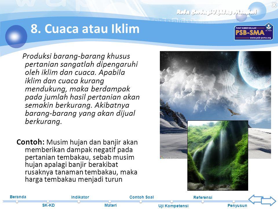 8. Cuaca atau Iklim
