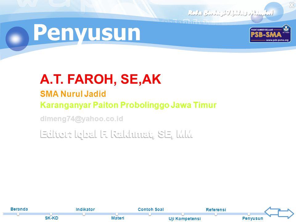 Editor: Iqbal F. Rakhmat, SE, MM