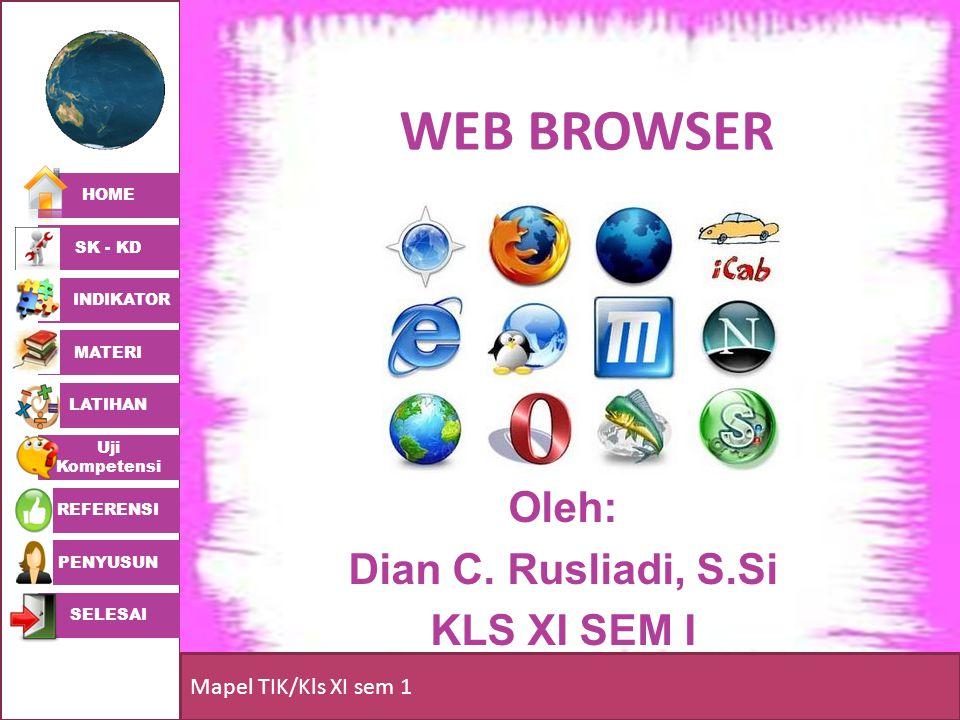 Oleh: Dian C. Rusliadi, S.Si KLS XI SEM I