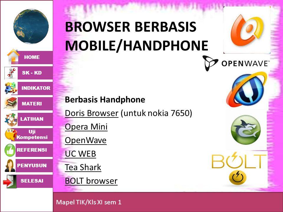 BROWSER BERBASIS MOBILE/HANDPHONE