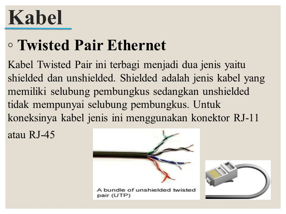 Kabel Twisted Pair Ethernet