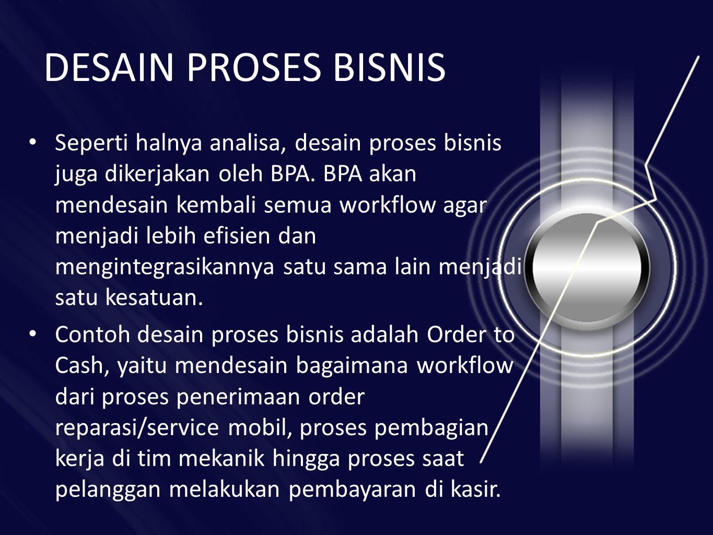 DESAIN PROSES BISNIS