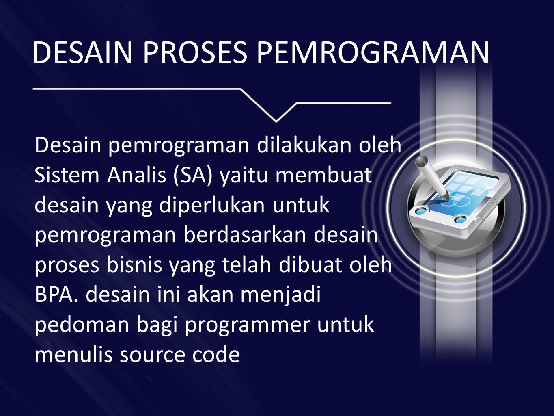 DESAIN PROSES PEMROGRAMAN