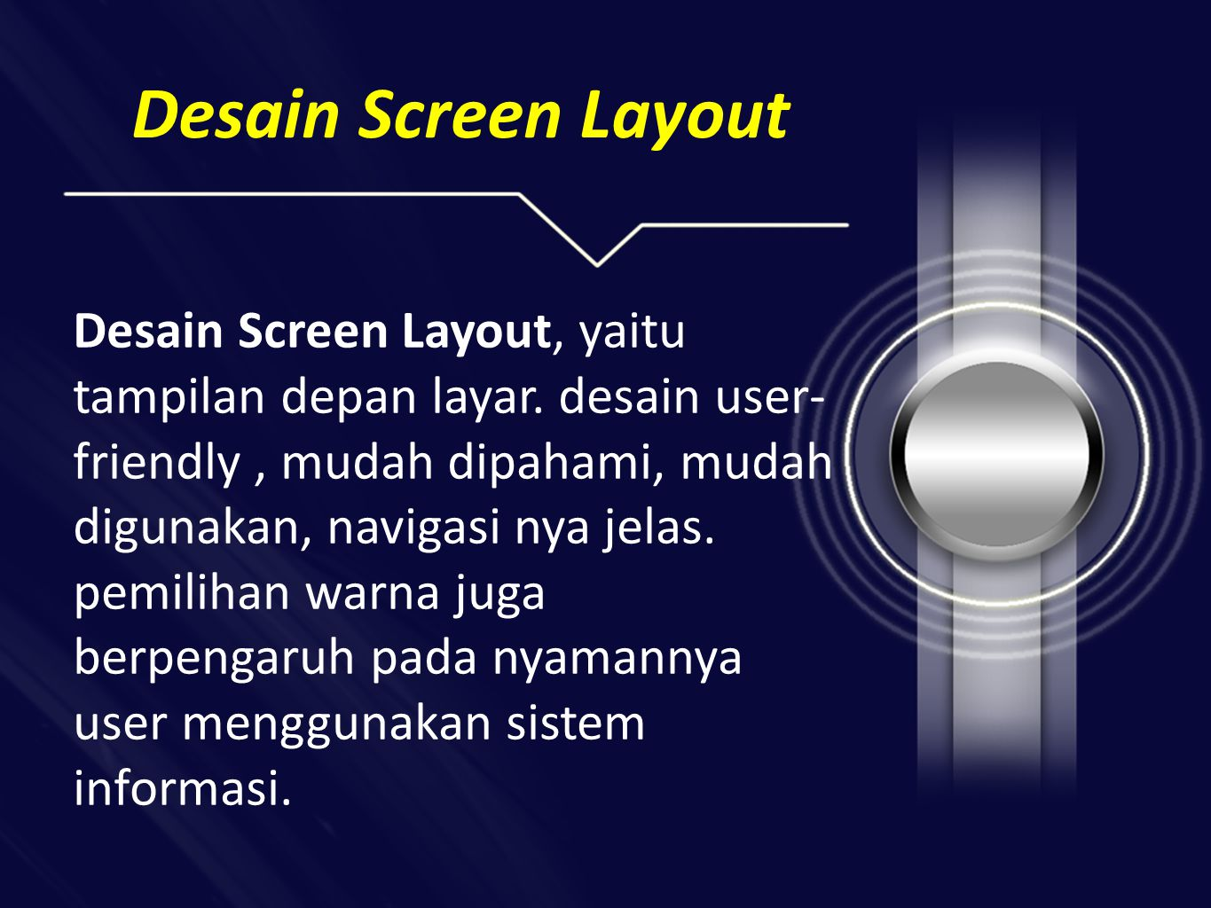 Desain Screen Layout