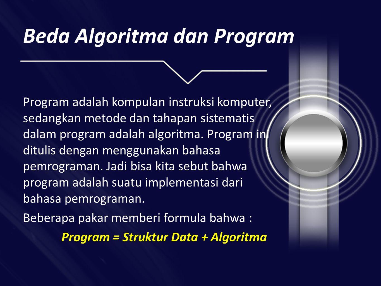 Beda Algoritma dan Program